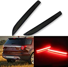 GTINTHEBOX Smoked Lens LED Bumper Reflector Lights for 2016 2017 Ford Explorer Function as Tail Brake Rear Fog and Turn Signal Lamps