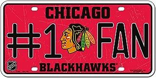 NHL Chicago Blackhawks #1 Fan Metal License Plate Tag