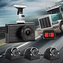 Vsysto Dash cam Backup Camera (1080P+VGA3) 3CH Waterproof Lens for Truck/Bus/Trailer/Cars/Tractor/Van/RV DVR Recording System with G-Sensor, Loop Recording (Infrared Night Vision)
