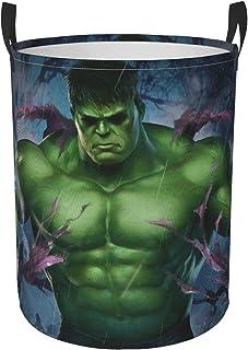 Hdadwy Hulk Cool Panier à Linge Grand Panier à Linge Tissu Oxford Durable Pliable Portable imperméable avec poignée Panier...
