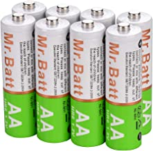 Sterno Home BA25115 Rechargeable Solar AA 900mAH Batteries Green