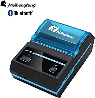 Mini Receipt Printer Bluetooth, Meihengtong Rechargeable Thermal Printer Bluetooth Wireless 58mm for Bar QR Codes Receipt, Portable Mobile Label Printer Compatible with Android/iOS/ESC/POS