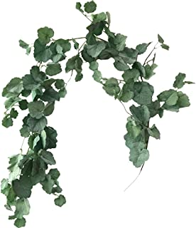 Aisamco Artificial Hanging Begonia Leaves Vines Twigs Fake Silk Begonia Plants Leaves Garland String 5.7 Feet in Green Indoor Outdoor Wedding Decor Greenery Wreath