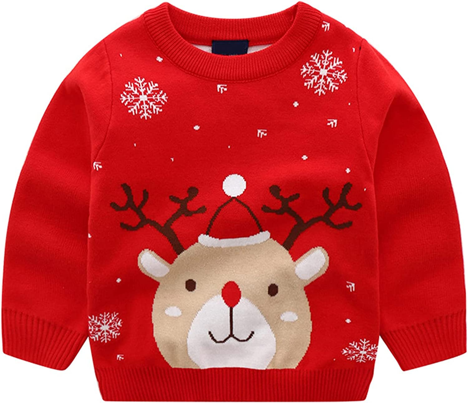 Baby Boys Girls Knit Sweater Toddler Dinosaur Christmas Sweatshirt Cotton Pullover Coat Winter Tops Clothes
