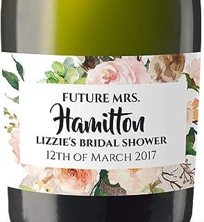 Mini-Champagne Bottle Labels for Bridal Shower, Bridal Shower Custom Mini-Champagne Label Stickers Sold in Set of 10