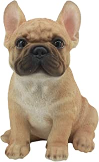 Ebros Realistic Lifelike French Bulldog Puppy Statue 7