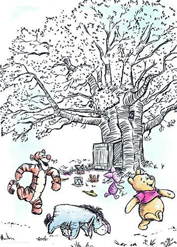 Disney Wandbild von Komar  | Winnie Pooh Playground | Kinderzimmer, Babyzimmer, Dekoration, Kunstdruck | Größe 50x70cm (Breite x Höhe)   |  ohne Rahmen   | WB063-50x70