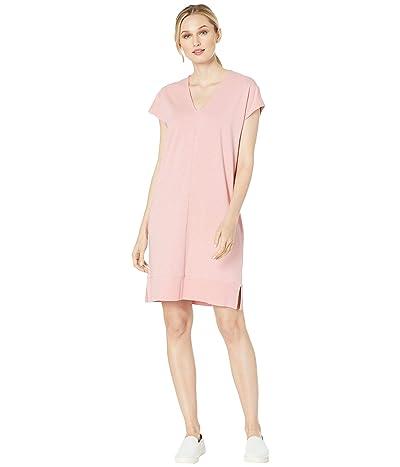 Lilla P Rib Trim Flame Modal Dress (Desert Pink) Women