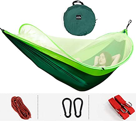 LUYION Camping Hammocks with Mosquito Net Person  260X150cm  Quick-drying Parachute Nylon Outdoor Hiking Sleeping Swing Bed Tent 1