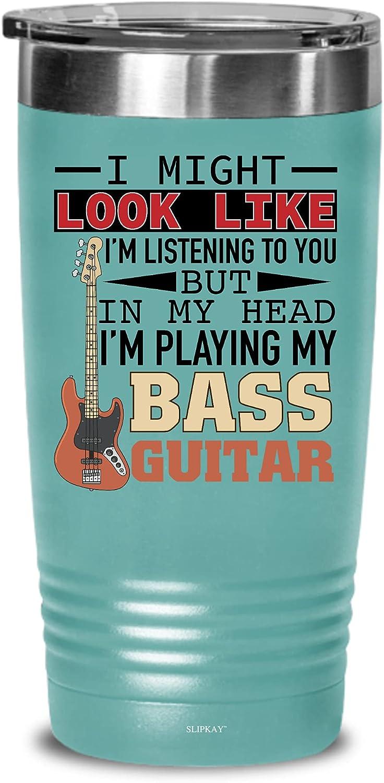 I Look Like Im Listening Bass Bassist quality assurance 20oz Guitar Baltimore Mall Tumbler Gifts