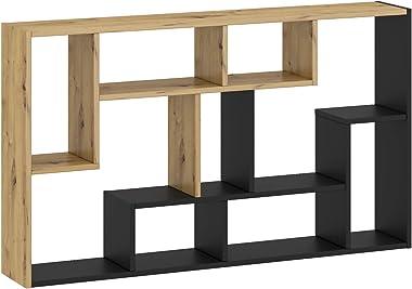 Étagère à livres avec plusieurs compartiments - Étagère de rangement horizontale/verticale - À suspendre au mur ou au sol (ch