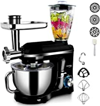 5.5L Stand Mixer with Blender Meat Grinder Juicer  for Kitchen Powerful  Electric Mixers with Pouring Shield, 5 in 1 Funct...