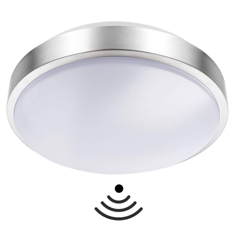 Luz del sensor de movimiento, sensor interior de 15 W, luz empotrada LED en el techo,