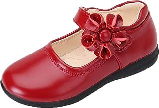Generic11 Filles Mary Jane Appartements léger décontracté Couleur Unie Bout Rond Fleur Princesse Chaussures Enfants Semell...