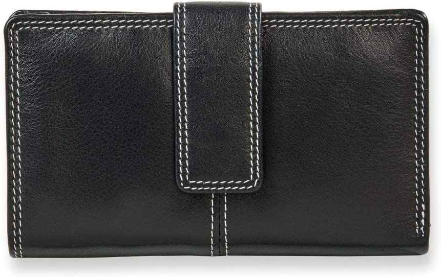 Levenger Sutton Leather Tri-fold Miami Mall Wallet Special price RFID
