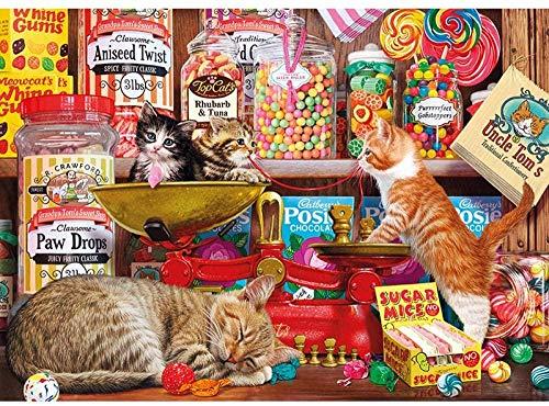 Rompecabezas 1000 piezas de rompecabezas de madera Puzzle kitty y candy forest animal marine DIY descompression game