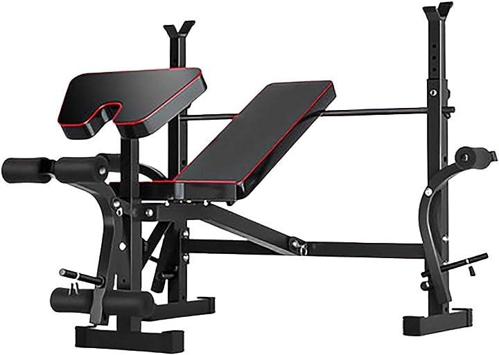 Panca piana regolabile per bodybuilding palestra - allenamento braccia - spalla - pettorali B08NJPWQV9