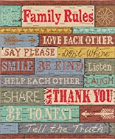 """Janlynn Counted Cross Stitch Kit 10""""X12""""-Family Rules (14 Count)"""