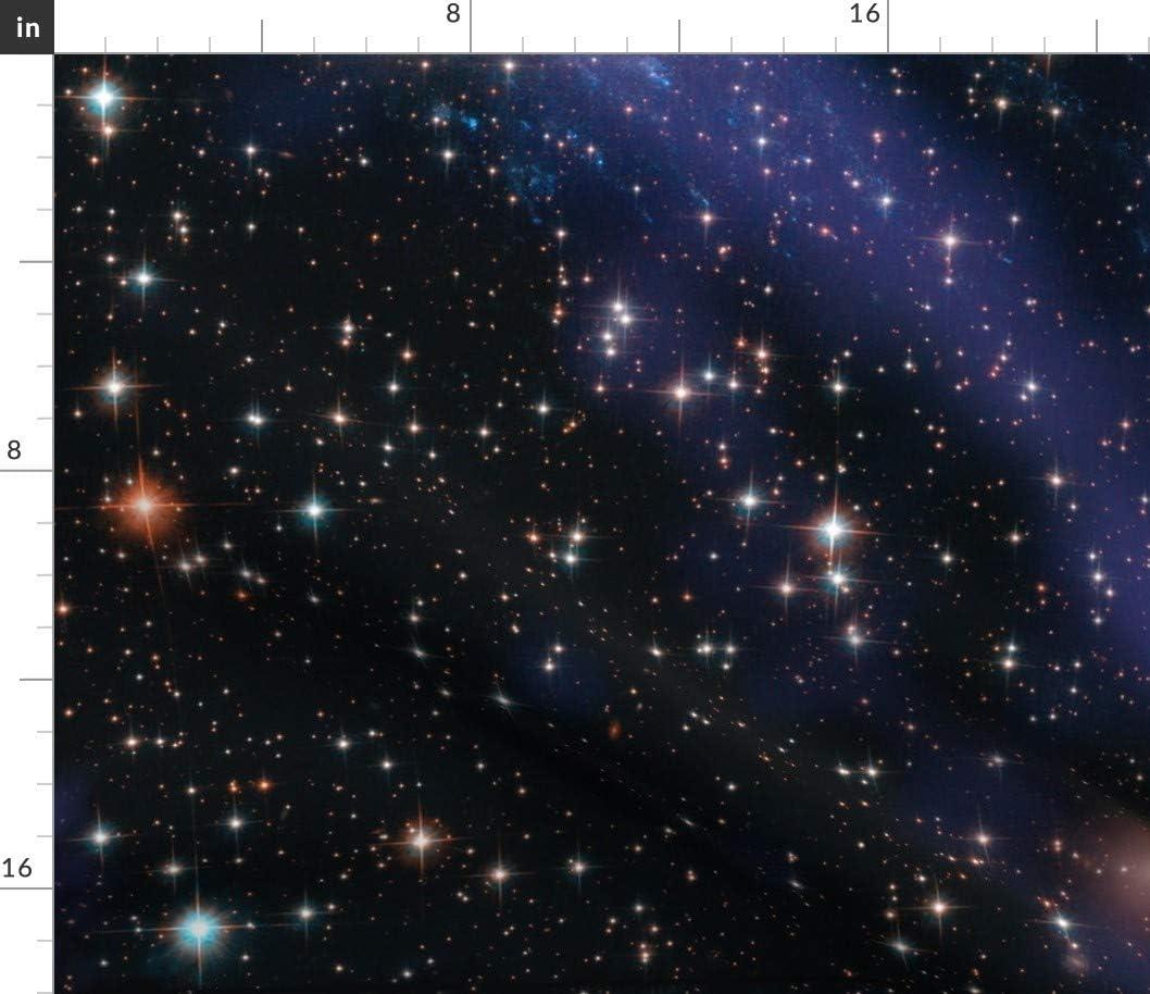 Spoonflower Fabric - Galaxy Space Universe 限定価格セール on Printed Sky Stars 新品■送料無料■