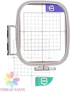 SA444 7-inch x 5-inch Embroidery Hoop w/Placement Grids for Brother PE-700, PE700II, PE-750D, PE-770, PE-780D, Innovis 1000, Innovis 1200, Innovis 1250D, PC-6500, PC-8200, PC-8500 And Babylock