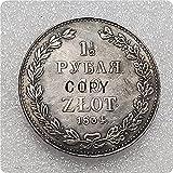 1834 Partición rusa de Polonia (Congreso de Polonia) 10 Zlotych / 1-1 / 2 Rublja - Nikolai I (ceca de Peterburg) Copiar moneda