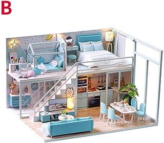 Sponsi Casa de muñecas DIY de Madera Mini Kit Hecho a Mano