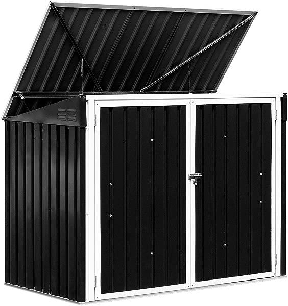 Goplus Horizontal Storage Shed Outdoor Multi Function Storage Cabinet For Garden Yard Lawn 6x3FT