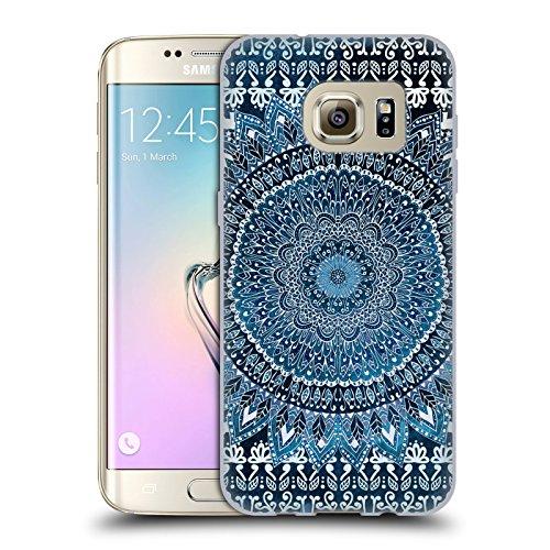 Head Case Designs Licenza Ufficiale Nika Martinez Blu Mandala Cover in Morbido Gel Compatibile con Samsung Galaxy S7 Edge