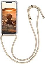 kwmobile Funda con Cuerda Compatible con Huawei Mate 20 Lite - Carcasa Transparente de TPU con Cuerda para Colgar en el Cuello