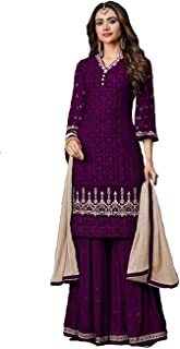 stylishfashion Indian/Pakistani Ethnic wear Sharara Style Salwar Suit for Women's Collection Palazo Suit for Eid Ramzan