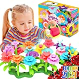 FunzBo Flower Garden Building Toys for Girls - STEM Toy Gardening Pretend Gift for Kids - Stacking Game for Toddlers playset - Educational Activity for Preschool Children Age 3 4 5 6 7 Year Old Boys