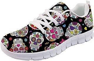 Women's Running Sneaker Lightweight Go Easy Walking Jogging Sports Running Shoes Rose Floral Print