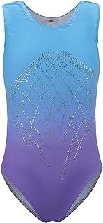 f7b5bef700ee DoGeek Ginnastica Body Danza Abiti da Ballo Girls Athletic Gradient Colour  Sparkle Body per Ginnastica Artistica
