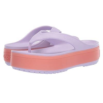 Crocs Crocband Platform Flip (Lavender/Melon) Sandals