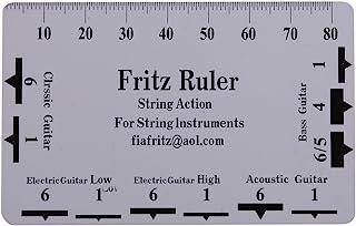 Yosoo Health Gear 2 PCS Guitar String Action Gauge Ruler, String Action Gauge Ruler Measuring Tools for Guitar Bass Instru...