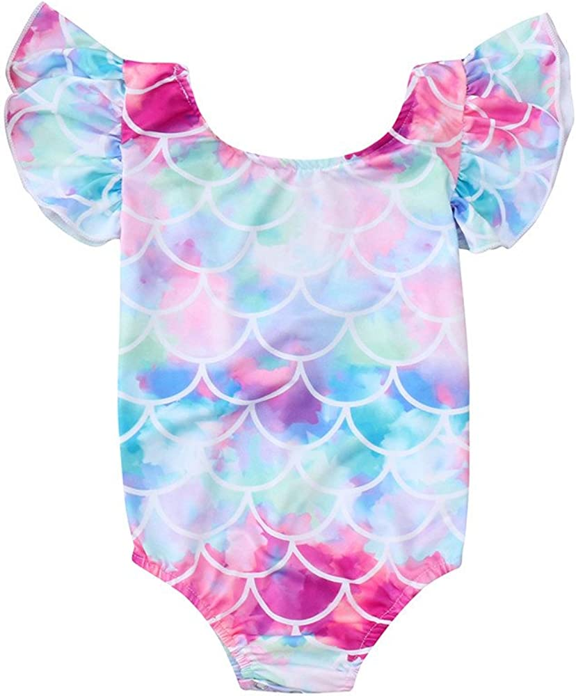 Toddler Baby Girls Colorful Fish Ruffles Courier shipping free Sleeve Scale On Direct store Mermaid