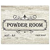 Farmhouse Powder Room Poster Prints, Set of 1 (8x10) Unframed Photo, Wall Art Decor Gifts Under 15 for Home, Office, Bathroom, Salon, Studio, College Student, Teacher, Cosmetics & Hair Artist