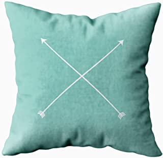 Musesh light teal arrow modern tribal minimal Cushions Case Throw Pillow Cover For Sofa Home Decorative Pillowslip Gift Ideas Household Pillowcase Zippered Pillow Covers 18X18Inch