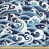 ABAKUHAUS japanische Welle Gewebe als Meterware,