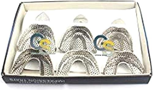 G.S Dental Ortho Impression Trays AUTOCLAVABLE 6 PCS/Set Denture Instruments Best Quality
