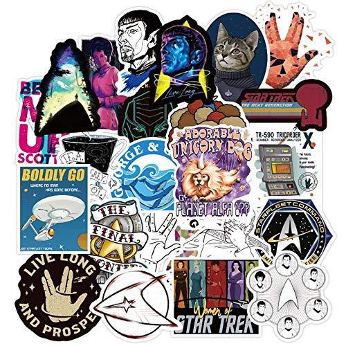 CHUDU Star Trek Espace Dessin animé Doodle Autocollant Bagages Voiture Gaital Skateboard Mobile Ordinateur Portable Bricolage vélo Autocollant 70 pièces