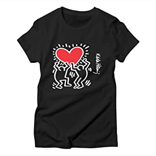 Womens T-Shirts Kei Seventh Har sevening Dancing Heart Short Sleeve Tees