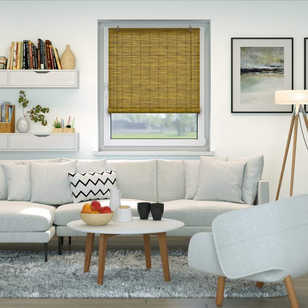 Victoria M. - Klemmfix Persiana Estor de bambú 18 x 18 cm Color marrón -  Montaje sin perforación