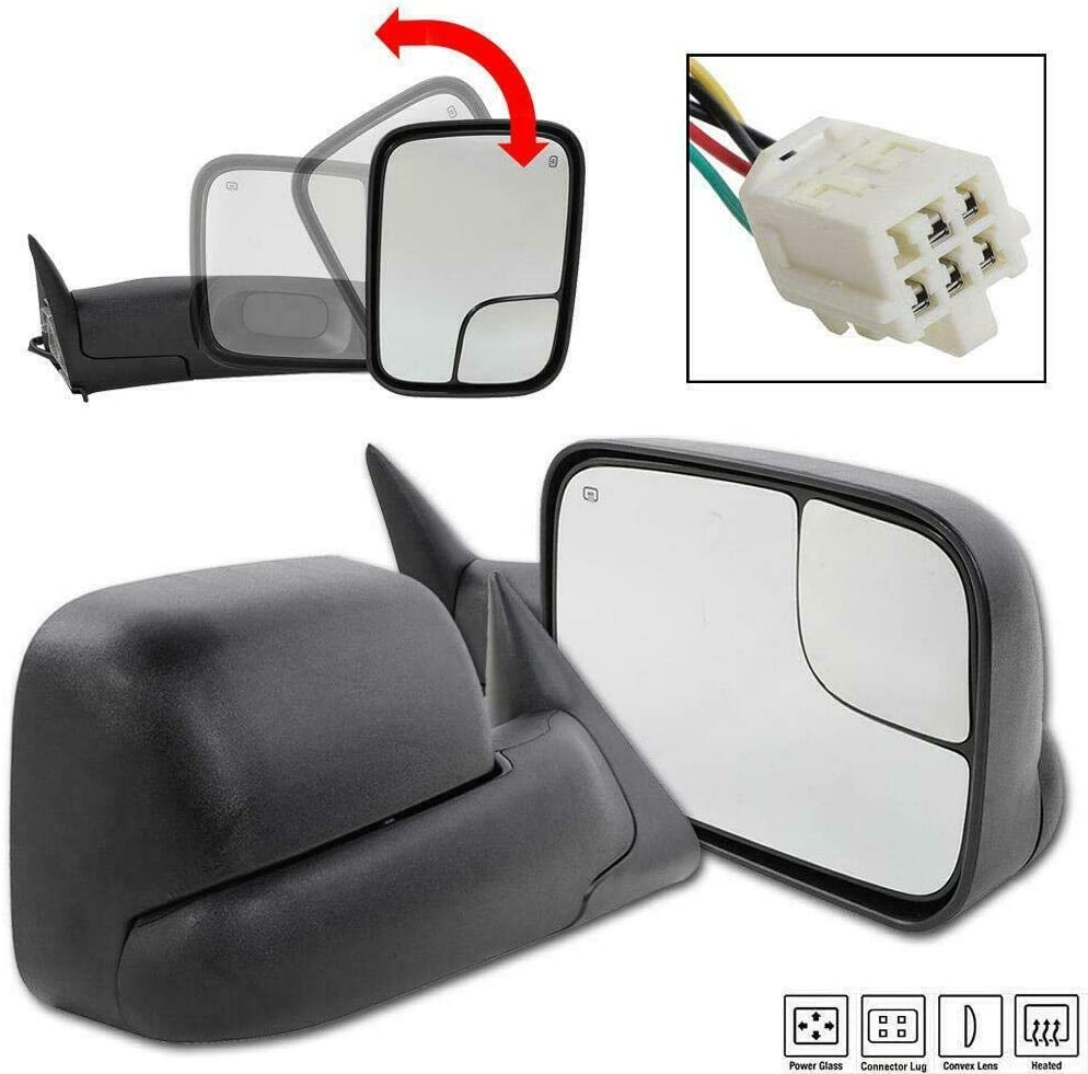 Towing Mirrors Replacement for 1998-2001 Dodge Ram 1500  1998-2