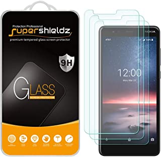 (3 Pack) Supershieldz for Nokia (3.1 A) Tempered Glass Screen Protector, Anti Scratch, Bubble Free