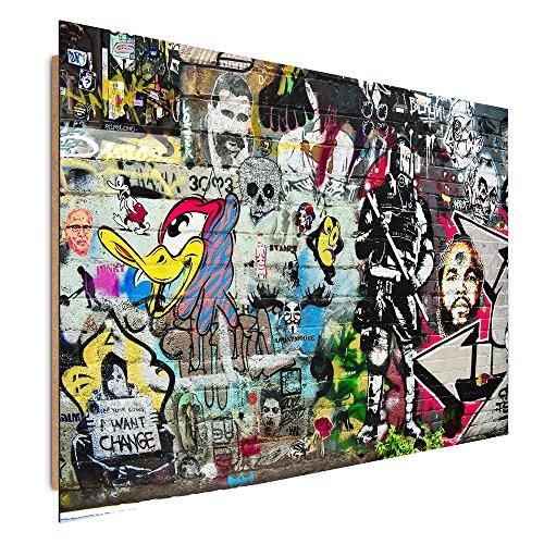 Feeby. Tableau - 1 Partie - 40x50 cm, Décoration Murale Image Imprimée Deco Panel, Graffiti, PAROI, Multicolore