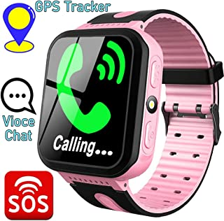 Funplus Kids Smart Watch Phone with GPS Tracker Two-Way Call SOS for Age 3-12 Girls Boys Toddler 1.44