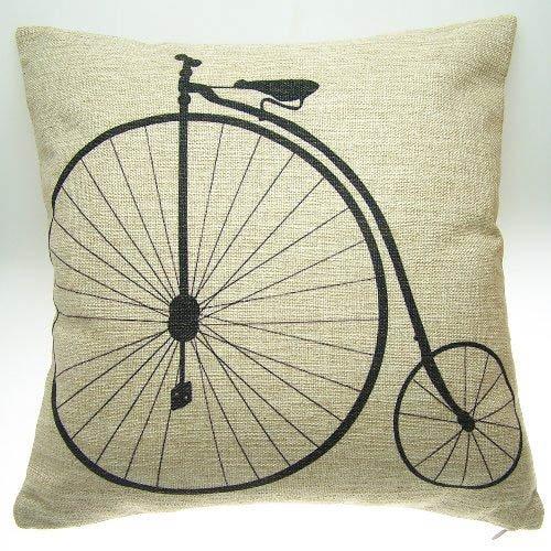 Antieke fiets Vinatge kussensloop kussensloop 45Cm 18