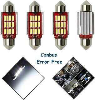 RETYLY 10pcs 39mm SMD 16-LED Festoon Dome Light Bulb White DE3423 6411 C5W