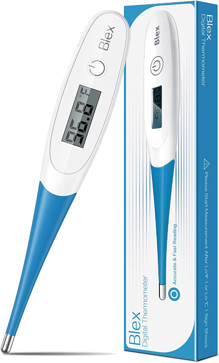 Blex Thermometer for Adults, Oral Digital Thermometer for Fever and Baby, Blue : Health & Household